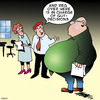 Cartoon: Gut feelings (small) by toons tagged obesity,fat,gut,feeling,office,workers,overweight