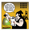 Cartoon: haircut and shave (small) by toons tagged guillotine,beheaded,french,revolution,haircut,shave,hairdresser,capital,punishment