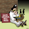 Cartoon: have cradle will rock (small) by toons tagged elvis,rock,and,roll,music,the,king,presley,children,babies,begging,cradle,pram,crib