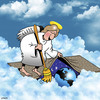 Cartoon: Heavens rubbish (small) by toons tagged garbage,angels,sweeping,under,the,rug,cleaning