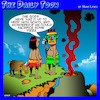 Cartoon: Human sacrifice (small) by toons tagged pagans,volcano,goats,pizza,food