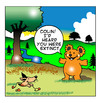 Cartoon: I heard you were extinct (small) by toons tagged extinct,endangered,species,bears,animals