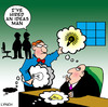 Cartoon: ideas man (small) by toons tagged ideas,thought,bubbles,speech,innovations,corporate,office,consultant,hiring,firing,cartoons