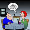 Cartoon: Idiot (small) by toons tagged smart,phones,mobile,phone,iphone,ipad,computer
