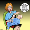Cartoon: Im Gay (small) by toons tagged gay,homosexual,breast,feeding,babies,milk,breasts