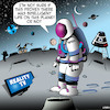 Cartoon: Intelligent life (small) by toons tagged reality,tv,astronaut,space,travel,intelligent,life,nasa,television,shows