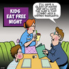 Cartoon: Kids eat free (small) by toons tagged buffet,margarita,kids,eat,free,father,and,son,restaurants,surf,turf