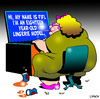 Cartoon: Lingerie model (small) by toons tagged lingerie,sexy,online,dating,models,obese,social,networking