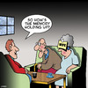 Cartoon: Memory (small) by toons tagged memory,loss,alzheimers,old,age,pensioners