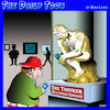 Cartoon: Millennial art (small) by toons tagged the,thinker,gen,millenials,sculptures,art,gallery
