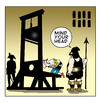 Cartoon: mind your head (small) by toons tagged guillotine,death,penalty,headache,french,revolution,beheaded,royalty,torture