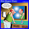 Cartoon: Mirror reflection (small) by toons tagged ageing,mirror,reflection,hangover