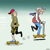 Cartoon: Never too old (small) by toons tagged skateboarding,ageing,old,age,youth,zimmer,frame