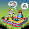 Cartoon: Nice people (small) by toons tagged no,internet,access,online,smart,phones,addicted,sandpit,wi,fi,children,playing
