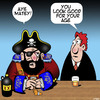 Cartoon: Old Pirate (small) by toons tagged pirates,ageing,pensioner,aye,matey