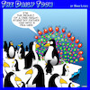 Cartoon: One night stand (small) by toons tagged peacock,peahen,penguins,one,night,stand