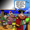 Cartoon: Online piracy (small) by toons tagged pirates,online,piracy,illegal,downloads,music,ipads,sailors,pirate,copy,blackbeard