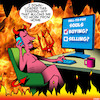 Cartoon: Online trading (small) by toons tagged sell,your,soul,online,trading,apps,devil,hell,stock,market,trades