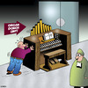 Cartoon: Organ donor (small) by toons tagged organ,donor,transplants,music,hospitals,medical,player,piano,recitals,doctors,musical,instrument
