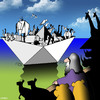 Cartoon: Origami Ark (small) by toons tagged origami,noahs,ark,animals,hobby