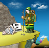 Cartoon: out of order (small) by toons tagged guru,out,of,order,mountaineering,climbing,absailing,mountains,information,wise,man,tribal,elder
