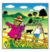 Cartoon: phone your scarecrow (small) by toons tagged phones,farming,scarecrow