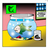 Cartoon: Piranhas retirement village (small) by toons tagged retirement,piranhas,fish,village,old,elderly,tank