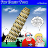 Cartoon: Pisa (small) by toons tagged viagra,tourists,italy,leaning,tower