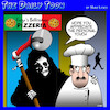 Cartoon: Pizza (small) by toons tagged angel,of,death,pizza,slicer,chef,slice