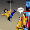 Cartoon: Pole dancer (small) by toons tagged pole,dancing,fireman,fires,emergency,services,sex,strippers