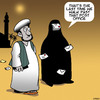 Cartoon: Post office (small) by toons tagged burka,burqa,post,office,snail,mail