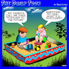 Cartoon: Postcard (small) by toons tagged kids,postcards,sandpit