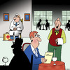 Cartoon: Restaurant doctor (small) by toons tagged restaurants,food,poisoning,doctors,illness,salmonella