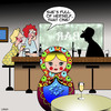 Cartoon: Russian doll (small) by toons tagged russian,dolls,full,of,themselves,show,off,multiple,personality