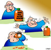 Cartoon: Shake well (small) by toons tagged shake,well,before,drinking,juice,orange,drinks,shaking,fruit,stupidity