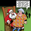 Cartoon: Skinny (small) by toons tagged christmas,obesity,skinny,santa,clause,gifts,money,bank,balance