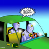 Cartoon: Slow down (small) by toons tagged crash,test,dummy,cars,auto,accident,road,toll,fatality,safety,seatbelts,back,seat,driver,nagging