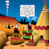 Cartoon: Smoke signals (small) by toons tagged texting,indians,apache,american,west,smoke,signals,history,broken,romance