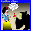 Cartoon: Snow White (small) by toons tagged apple,phones,wicked,witch,snow,white,iphones,wasting,time,fairy,tales,smart,phone