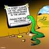 Cartoon: Sorry Claude (small) by toons tagged snakes,romance,relationships,dating,infidelity,love,divorce,breaking,up,reptiles,separation,marriage