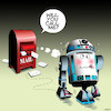 Cartoon: Star wars cartoon (small) by toons tagged r2d2,star,wars,post,box,robots,artificial,intelligence,ai,mail