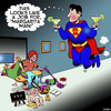 Cartoon: Super hero (small) by toons tagged margarita,super,hero,superman,cocktails,housework,mums,alcohol,stress