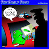 Cartoon: Tadpoles (small) by toons tagged frogs,tadpole,highway,patrol,police,speeding,drivers,licence
