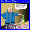 Cartoon: The booze made me do it (small) by toons tagged tequila,drunk,texting,ex,wife,social,media