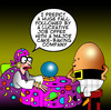Cartoon: the job offer (small) by toons tagged humpty,dumpty,cakes,pastry,eggs,chickens,employment,jobs,fairy,tales,fortune,teller,soothsayer,predictions,crystal,ball