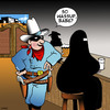Cartoon: The Lone Ranger (small) by toons tagged burqa,the,lone,ranger,burka,pick,up,lines,old,west,saloons