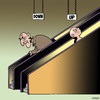 Cartoon: The meaning of life (small) by toons tagged birth,death,the,meaning,of,life,escalators,ageing,old,people,youth