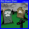 Cartoon: Till death do us part (small) by toons tagged tombstones,nagging,wife,last,words,cemetery,burial