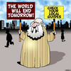 Cartoon: tomorrow (small) by toons tagged end,of,the,world,soothsayer,fortune,teller,guru