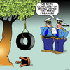 Cartoon: Tyre swing (small) by toons tagged suicide,tyre,swing,stress,pressure,note
